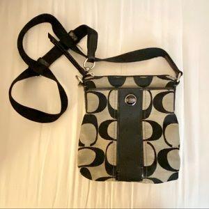 COACH Crossbody Bag • Black/Grey